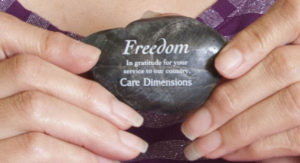 Care Dimensions freedom stone honoring veterans