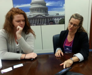 Care Dimensions Sarah Shepard and U.S. Sen. Elizabeth Warren aide Meghan McCafferty