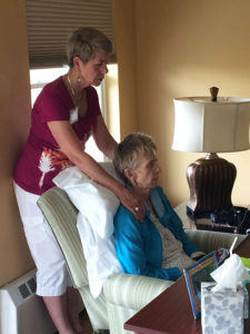 Reiki performed on Care Dimensions hospice patient at Kaplan House