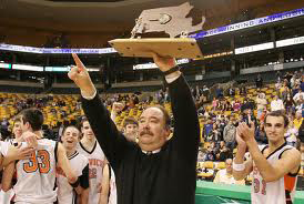 Doug Woodworth Ipswich basketball coach state champions before Care Dimensions hospice patient