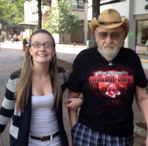 Donald Ace Adams Care Dimensions hospice patient and granddaughter Sarah of Concord, MA