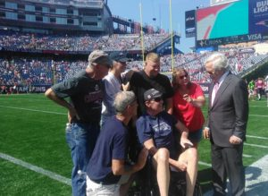 Care Dimensions hospice patient Steve Brown and family with New England Patriots owner Robert Kraft
