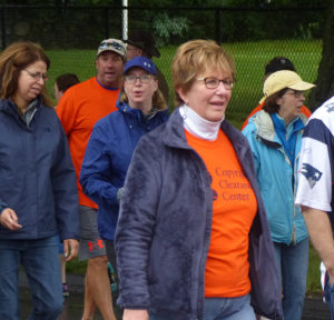 Copyright Clearance Center's team members walking at Care Dimensions Walk for Hospice