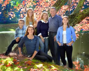 The Morissette family poses for a portrait in the fall of 2014