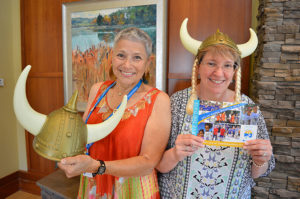 Cynthia-Turover-and-Fran-Clements-co-captains-of-Volunteer-Vikings-Walk-for-Hospice-fundraising-team-to-benefit-Care-Dimensions