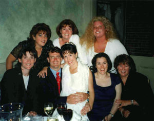 Swampscott, MA High School Class of 1985 friends celebrate at wedding in 2001